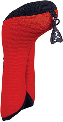 (Stealth Club Covers 05040INT Hybrid ID 5-6-7 Golf Club Head Cover, Red/Black)