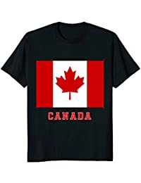 Flag of Canada T-Shirt, Red and White, Red Maple Leaf Shirt