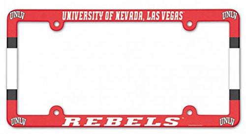 WinCraft NCAA University of Nevada Las Vegas UNLV Rebels Plastic License Plate Frame