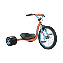 Mantis X20 Drift Tricycle, 20 inch front wheel, drift rear Wheels, for Boys and Girls, Blue/Orange