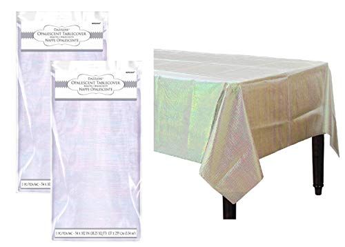 Iridescent Party Decorations Opalescent Shiny Table Covers Pack of 2 ()