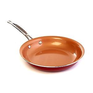 Amazon Com Red Copper Ceramic Non Stick 12in Cookware Pan