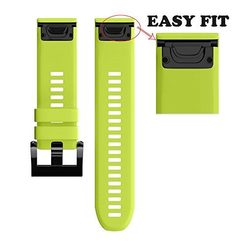 Wearable4U Garmin Fenix 5 Band 22mm Quick Release Easy Fit S