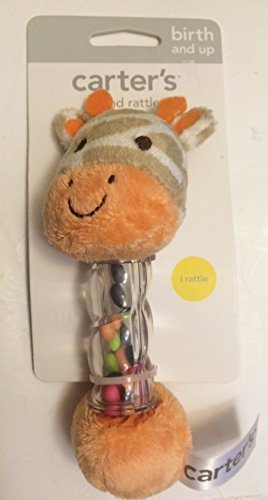 Carters Activity (Carter's Giraffe Baby Soft Hand Rattle for Birth and up Activity Toy)