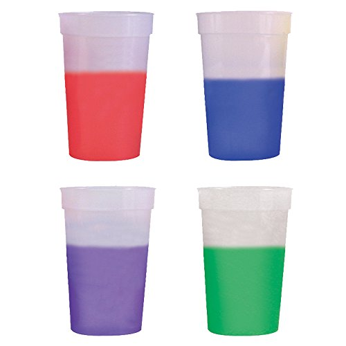 17oz Color Changing Stadium Cup, Set of 12, Frosted Assorted -