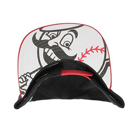 NEW ERA 9fifty Snapback Reds de Cincinnati FlipUp Team Baseball MLB Redux Noir Rouge Blanc Neuf Taille: M/L couleur: cinred OTC