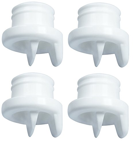 Nenesupply 4 Count Duckbill Valves for Medela and Avent Breast Pumps Work with Medela Pump in Style Swing Symphony Not Original Medela Pump Parts Replace Medela Valve and Avent Valves