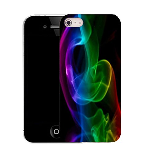 Mobile Case Mate IPhone 4s clip on Silicone Coque couverture case cover Pare-chocs + STYLET - glow swirl pattern (SILICON)