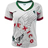 Arza Sports Mexico Womens Soccer Jersey Exclusive Desin (X-Large, White)