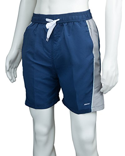 Athletic Shorts Polyester Swim Trunks for Men / Boys by Abstract (XL, Navy / (Ohio Athletic Shorts)