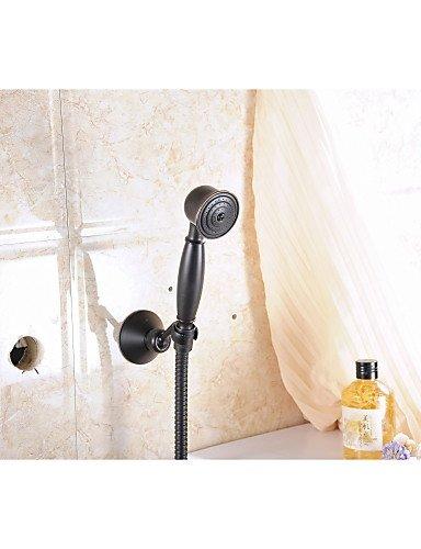 Öl eingerieben Bronze Wandhalterung Handheld-Brausebatterie Dusche-Mischbatterie gesetzt einzigen Handgriff Wandmontage