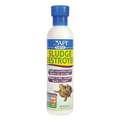 API TURTLE SLUDGE DESTROYER Aquarium Cleaner and Sludge Remover Treatment 8-Ounce -
