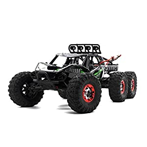 Virhuck V02 1/12 Scale 6WD High Speed RC Truck with Brushless Motor, 2.4GHz Off-road Vehicle Rock Crawler RC Car Racing Car 37MPH Christmas Gift