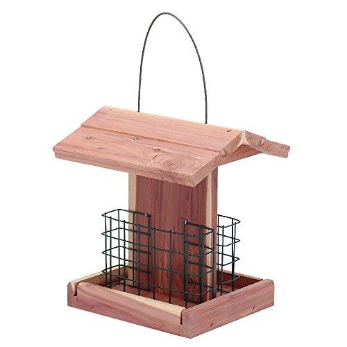 Worth Garden Cedar Bird Feeder with Double Suet Holder (Feeder Cedar)
