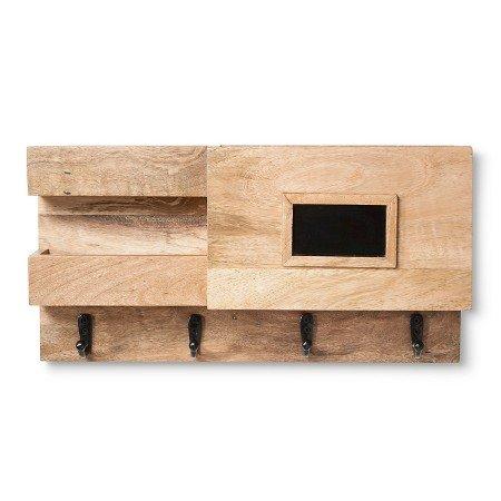 New ® Wood Wall Organizer with Chalkboard