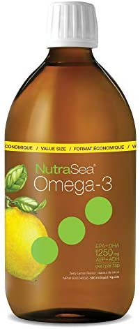 Natures Way NutraSea Omega 3 Supplement, GMO Free, Lemon, 1250mg (750 mg EPA, 500 mg DHA), 500 mL Liquid