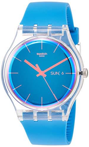- Swatch Mens Analogue Quartz Watch with Silicone Strap SUOK711