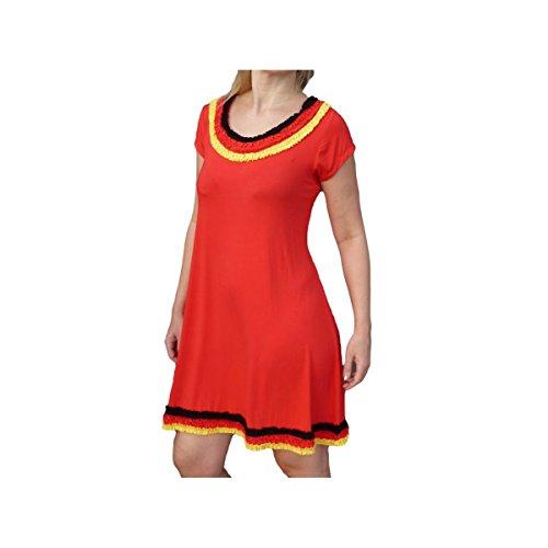 Unique Boutique - rosso gurimotex-vestito coole-fun-t-shirts-vestito 36 38 40 42 taglia smartrestyle-WM 2014 Nero Rosso oro giallo con balze