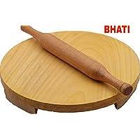 Bhati Wooden Polpat-Roti Roller/Chakla-Belan/Rolling Pin Size 24cm