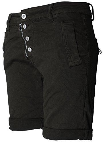 knopf verschluss Basic rei shorts Schwarz 4 Bermuda de C6Xwq6pR