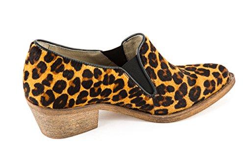 Lazamani Damen Ankle Boots Braun Leopard Gr. 37