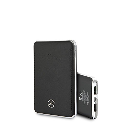 Mercedes-Benz Power Bank - by CG Mobile - Black 5,000 mah | Universal Accessory | Officially Licensed. ()