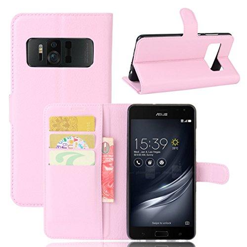 TOTOOSE Asus ZenFone AR ZS571KL Wallet case Asus ZenFone AR ZS571KL case,Premium Design PU Leather & Soft TPU Built-in Card/Cash Slots,Wallet Case -