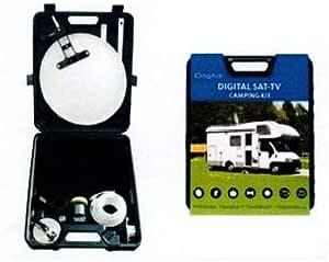 ID Sat Camping Set - Juego de antena parabólica y receptor