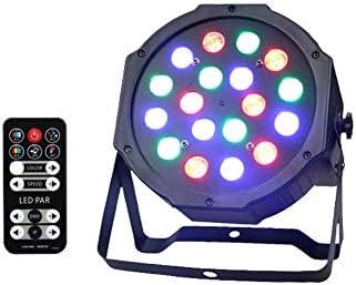 ステージライト LEDサウンドコントロールは、リモートステージライト18の ランプカラフルなディスコは、DMXストロボステージライトバーと互換性が点灯結婚式ディスコライトパーティー (Size : A)