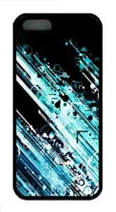 Apple iPhone 5S Case,iPhone 5S Cases - Circles And Lines TPU Custom iPhone 5S Case Cover for iPhone 5S - Black...