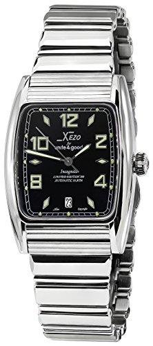 Xezo Incognito - Reloj Tonneau para hombre, 10 ATM, resistente al agua, color plateado