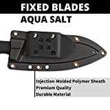 """Spyderco Aqua Salt Fixed Blade Knife with 4.70"""" H-1 Corrosion-Resistant Steel Blade and Premium Injection-Molded Polymer Sheath - SpyderEdge - FB23SBBK"""
