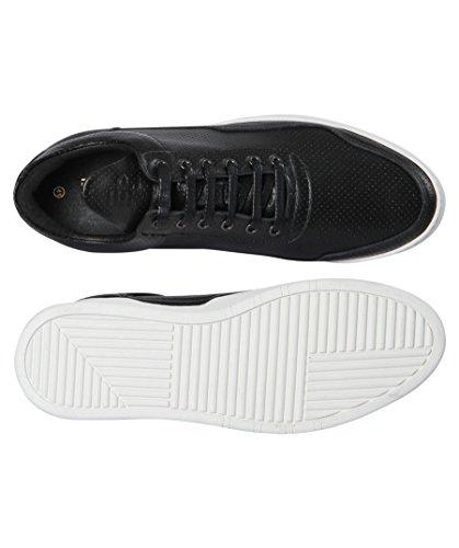 Riempimento Pezzi Sneakers Herren Low Top Fantasma Nappa Perforato Schwarz