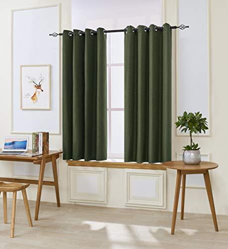 DyFun Black Out Window Curtains Room Darkening Draperies Curtains 2 Panels, Window Treatment Thermal Insulated Grommet Room Darkening(52