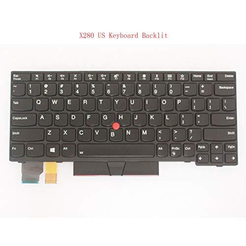 Original New for Lenovo Thinkpad X280 20KF 20KE US Layout Backlit Keyboard 01YP040 ()