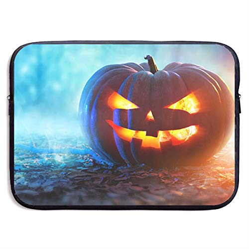 LiaanQianga Cute Pumpkin 13-15 Inch Laptop Sleeve Bag - Tablet Clutch Carrying Case,Water Resistant, Black ()