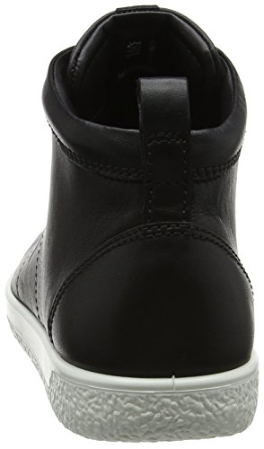 Soft black Noir Baskets Femme Ladies Ecco 1 Hautes UdqU6S