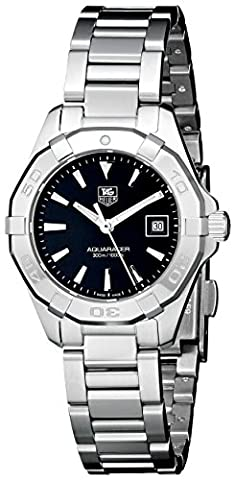 TAG Heuer Women's WAY1410.BA0920 Aquaracer Analog Display Quartz Silver Watch (Tag Heuer Women Black)