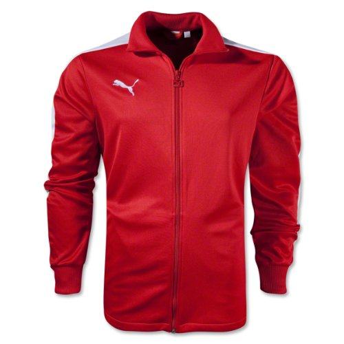 (Puma Men's Icon Walk Out Jacket, Medium, Puma Red-White)