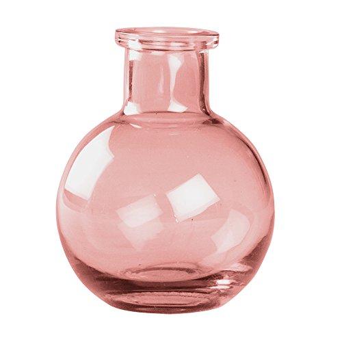Ivy Lane Design Transparent Glass Vases, 3.5-Inch, Coral, -