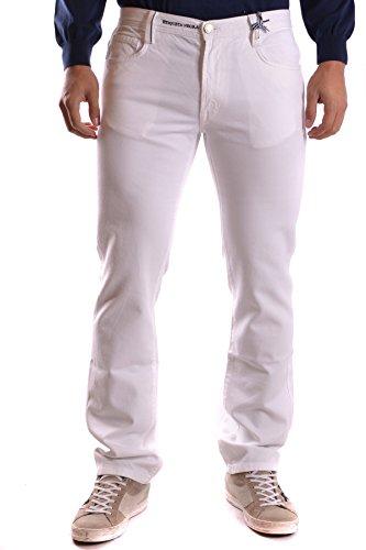 Etiqueta Negra Herren MCBI118047O Weiss Baumwolle Jeans