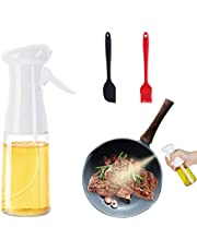 Oil Spray for Cooking 210ml Big Mouth Olive Oil Dispenser Bottle with Oil Brush Silicone Spatulas Portable Oil Dispenser Mister Air Fryer Sprayers Widely Used for Salad Baking Frying BBQ