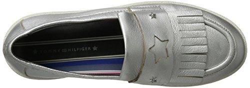 Tommy Loafers Silver Light Women's Hilfiger S1285uzie Silver 4z1 FwrFqxUO
