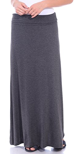 Popana Women's Casual Long Convertible Maxi Skirt Summer Beach Cover Up Made in USA Charcoal Small ()