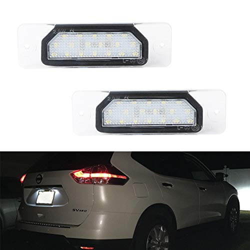 License Plate Light, GemPro 2Pcs Full LED License Plate Lamp Assembly For FX35 FX45 Q45 I30 I35 M37 M56 Nissan Fuga Cefiro