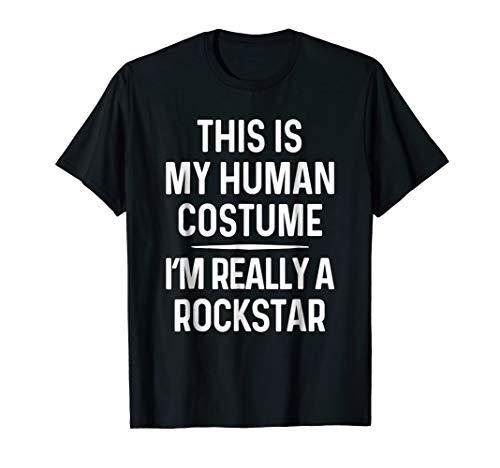 Funny Rockstar Costume Shirt Halloween Rockstar Tshirt -
