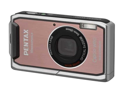 MP Waterproof Digital Camera with 5x Optical Zoom and 2.5 inch LCD (Pink) ()