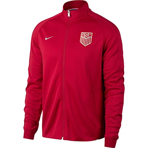(Nike USA Mens NSW N98 Authentic Track Jacket [Gym RED] (L))