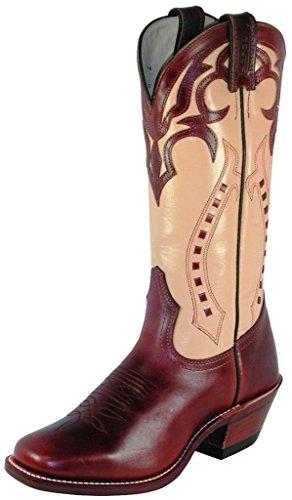 Boulet Womens Ranch Main Botte Cowgirl Bout Carré - 4123 Tan