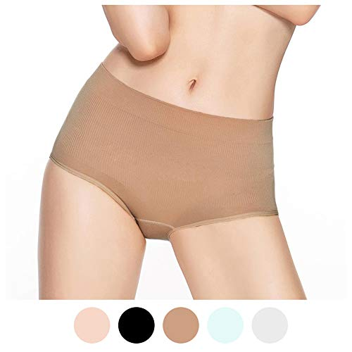 822dd68ce Eve s temptation Ruby High Waist Soft Stretchy Bamboo Viscose Fiber Panties  Underwear Brief S-3XL